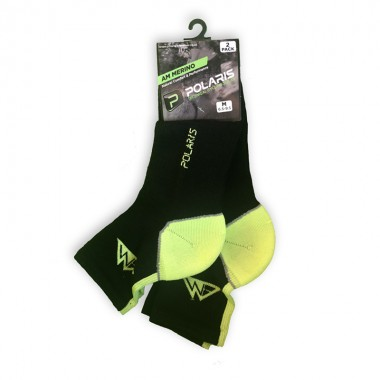 AM Merino Socks Black/Lime...