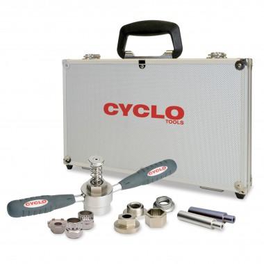 Sada náradia Cyclo-Tools pre rôzne druhy sťahovákov na stredové ložiská